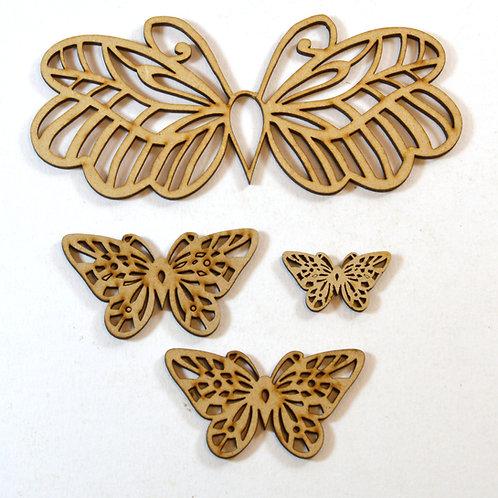 Flutterby MDF embellishments