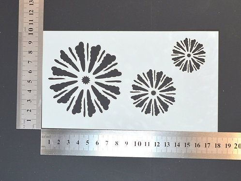 Flower heads Mylar stencil