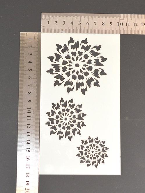 Chrysanthemum Mylar stencil