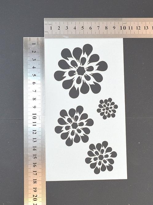 Daisies Mylar stencil