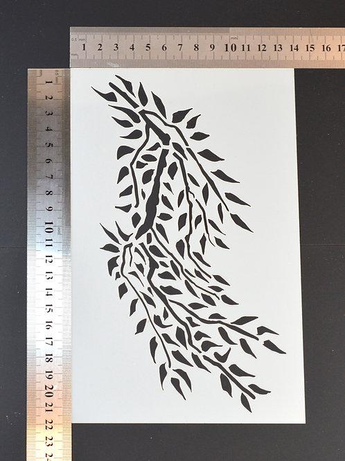 Willow branch Mylar stencil