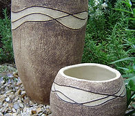Ripple Planter Karen Edwards Pottery