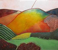Devon Landscape Jane Geeson Enamel