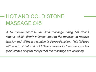 Hot Stone Massage now available.