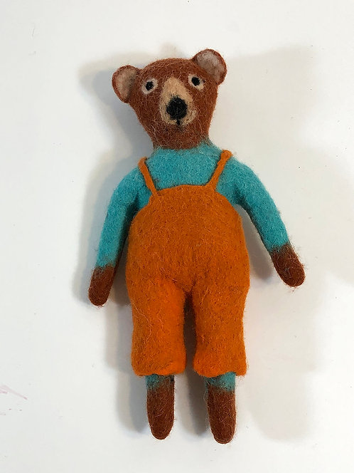 Little Brown Bear with Orange Pants