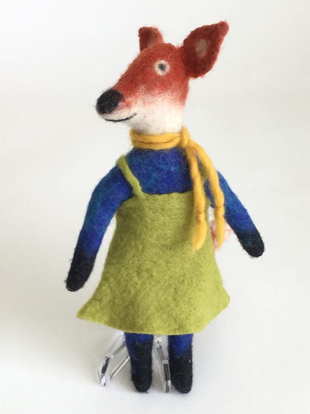 Fox in Green Dress
