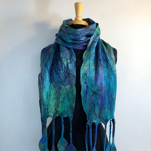 Turquoise Marble Scarf