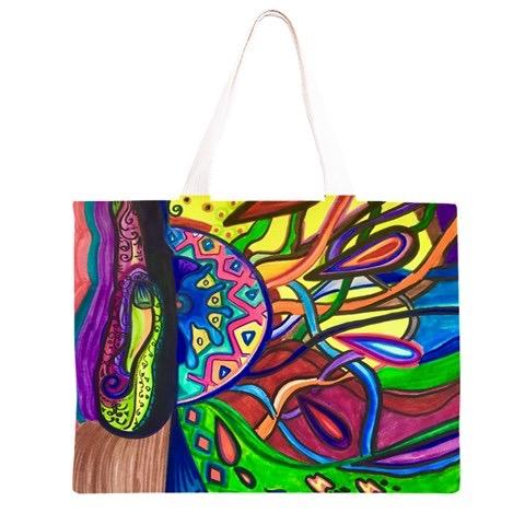 "A tote bag ""Hamsa"" great for anythin"