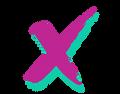 X logo designed by Nashville graphic design studio 10tongorilla