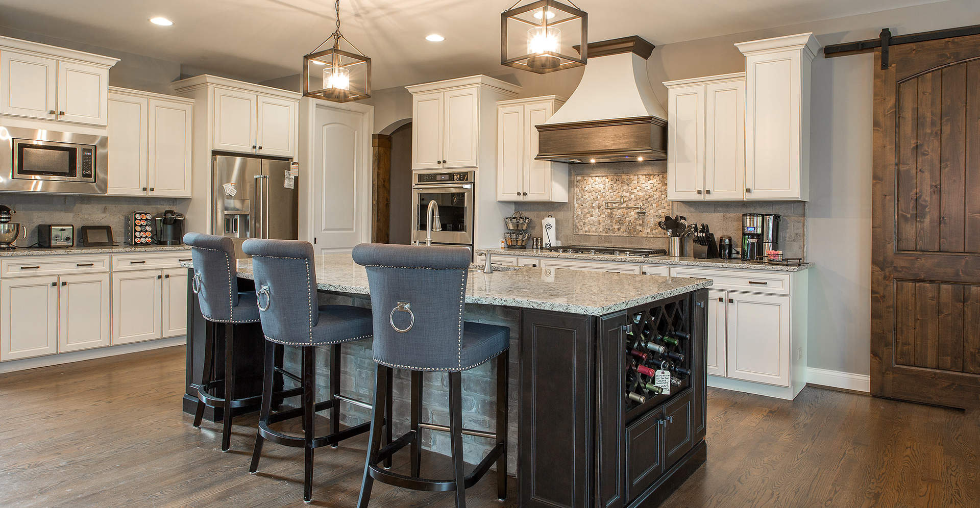 Kitchen | First Floor Master Rustic Custom Home Design | Carriage Hill of Liberty Township Ohio