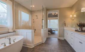 Master Bathroom Retreat | Custom Ranch Model Home For Sale | Kensington of Mason Ohio
