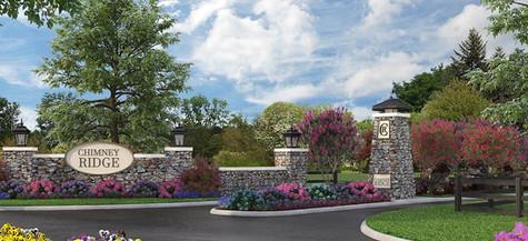 Community-entrance-to-ChimneyRidge-custom-homes-in-Loveland-Ohio-and-the-site-of-Homearama-Cincinnati-2022