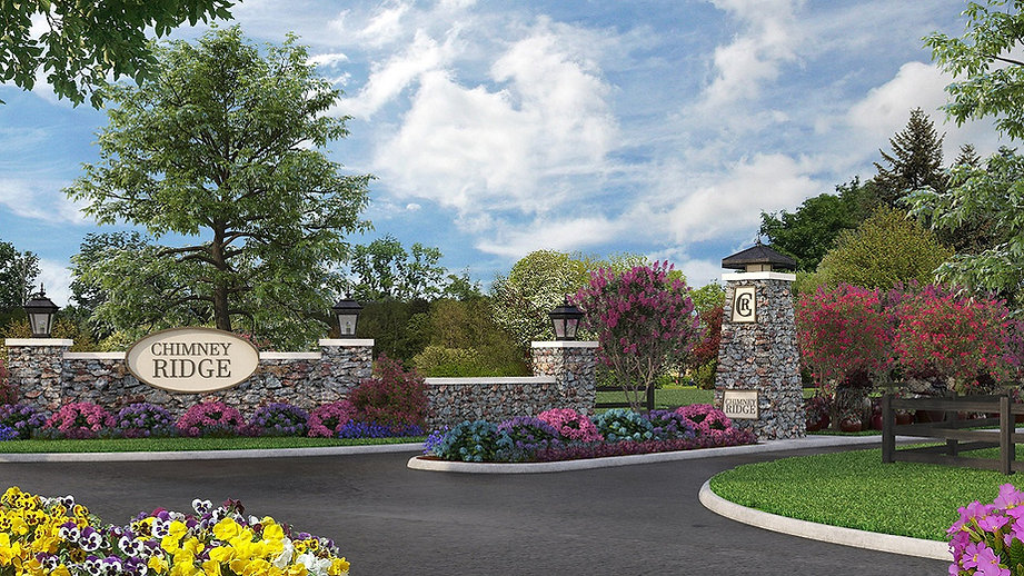 Community entrance to ChimneyRidge custom homes in Loveland Ohio and the site of Homearama Cincinnati 2022