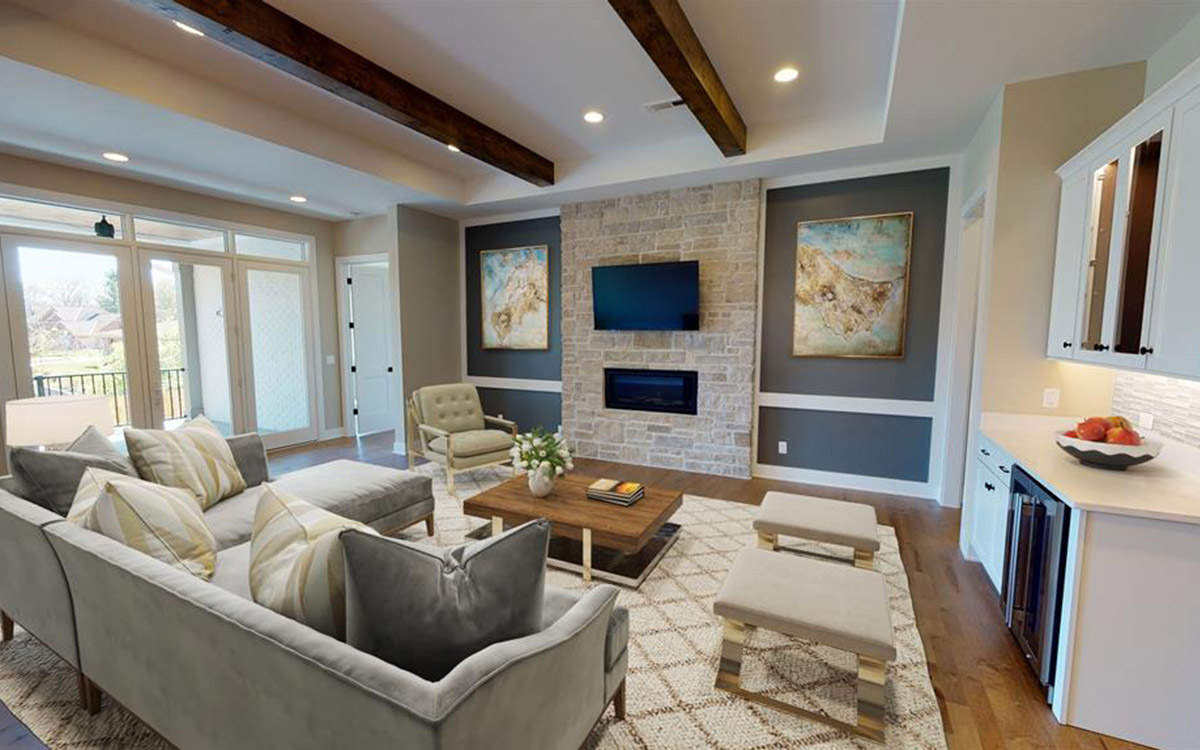 Living Room | Custom Ranch Townhome Living | The Villas Of Montgomery Ohio