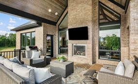 Outdoor Living Space | The Breckenridge is a First Floor Master Custom Home Design | Kensington of Mason Ohio
