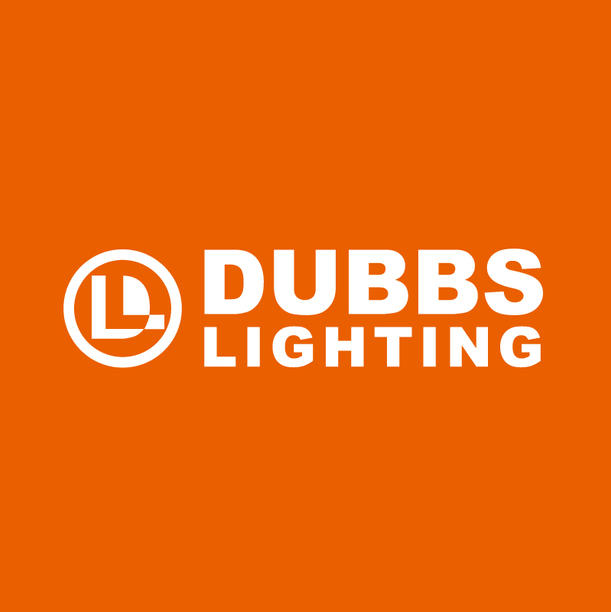 Horizontal orange logo for dubbs lightin