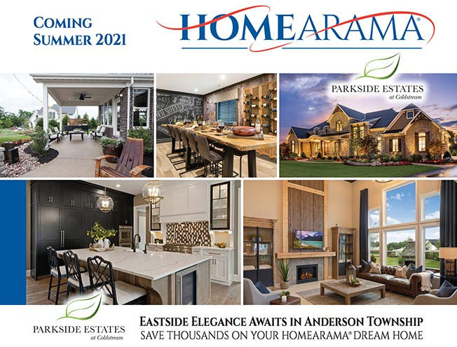 Build a custom home in Homearama Cincinnati 2021 with the Robert Lucke Group in Parkside Estates of Anderson Township, Ohio