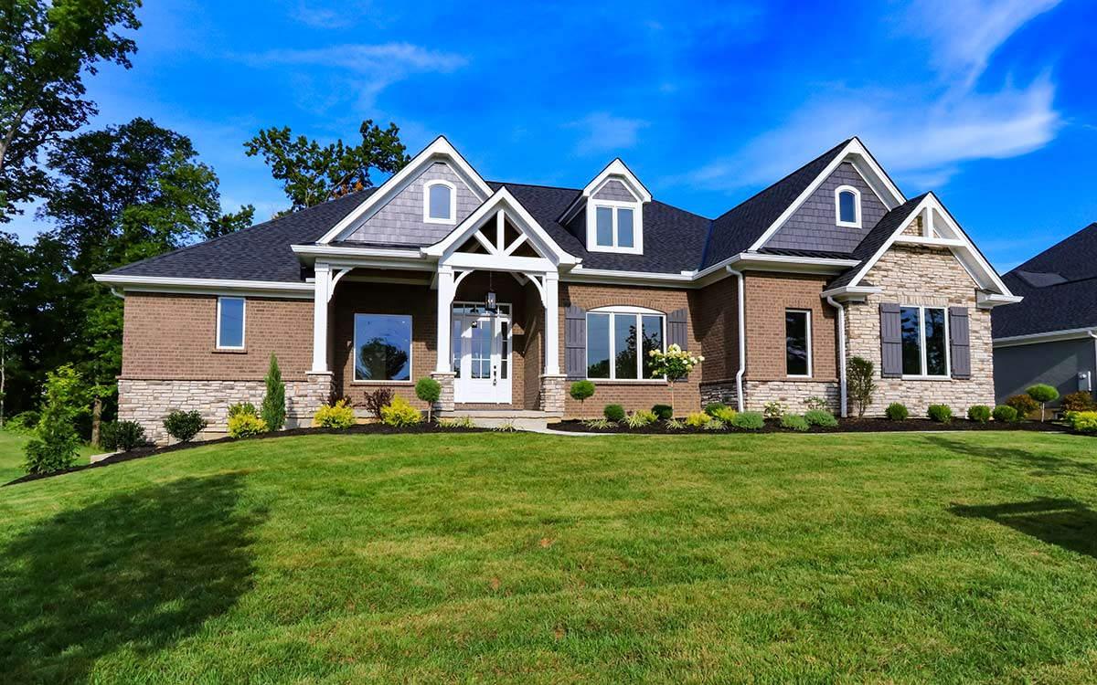 Exterior Elevation | Custom Ranch Model Home For Sale | Kensington of Mason Ohio