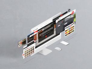 concrete company website design by Nashv