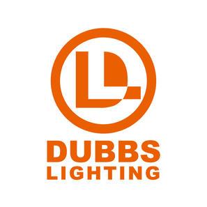 vertical white logo for dubbs lighting i