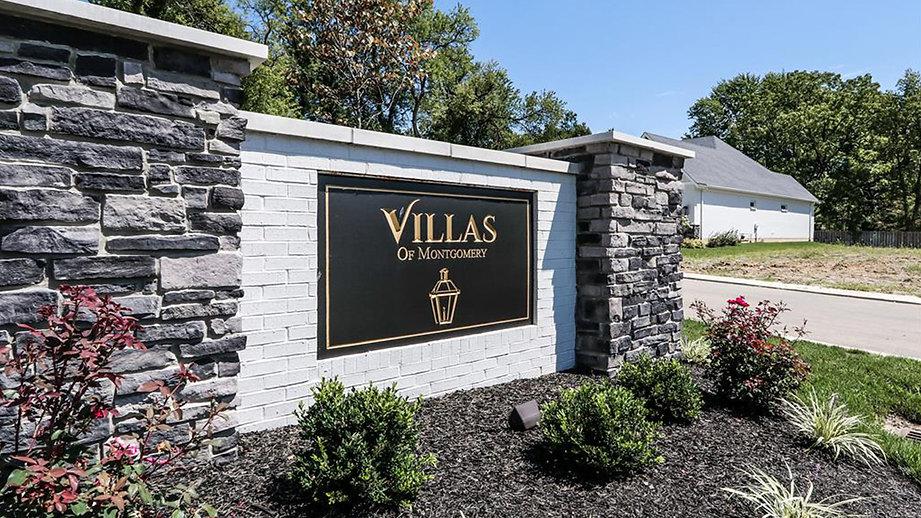 Entryway to The Villas of Montgomery ranch patio homes community