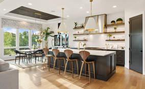 Modern Rustic Kitchen | The Breckenridge is a First Floor Master Custom Home Design | Kensington of Mason Ohio