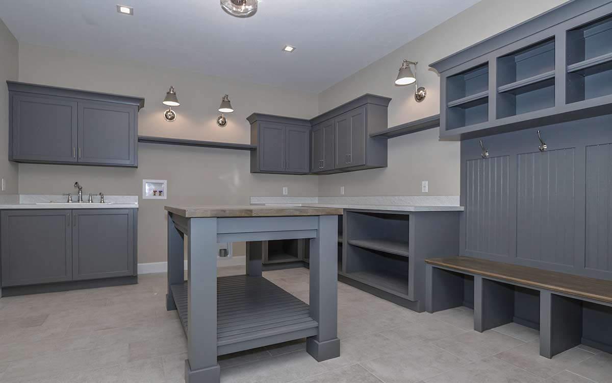 Laundry and Mudroom | Custom Ranch Model Home For Sale | Kensington of Mason Ohio