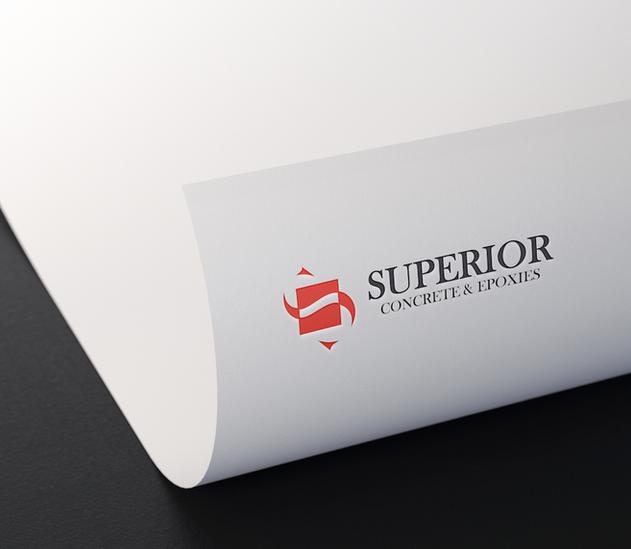 concrete company logo design on paper mo
