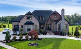 Exterior Elevation | The Breckenridge is a First Floor Master Custom Home Design | Kensington of Mason Ohio