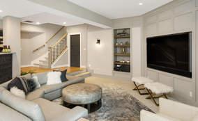 Finished Basement | The Breckenridge is a First Floor Master Custom Home Design | Kensington of Mason Ohio
