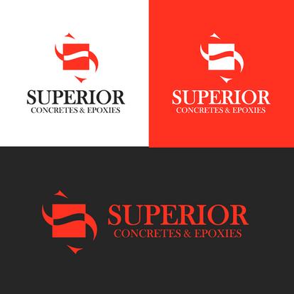 Superior Concrete logo designs by 10tong