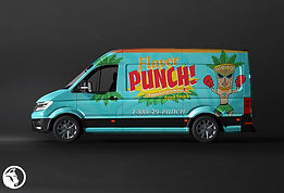 logo and graphic design for flavor punch food truck