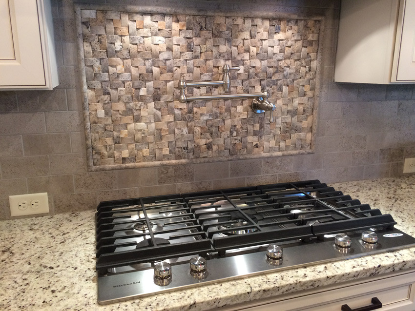 Get access to unique finishes like this stunning tile backsplash and gas range.