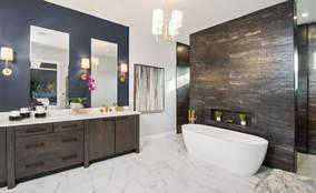 Master Bathroom | The Breckenridge is a First Floor Master Custom Home Design | Kensington of Mason Ohio