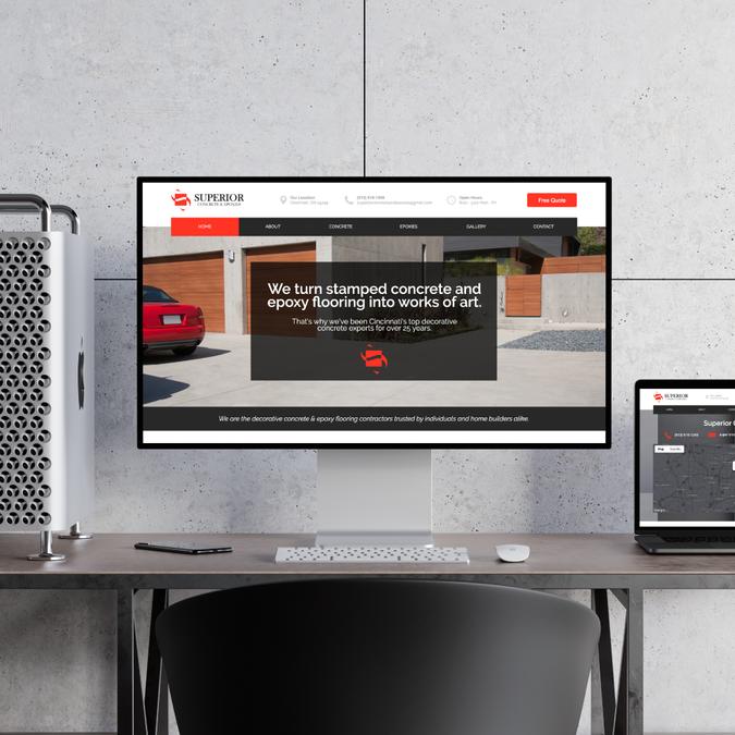 concrete company website designed in Nas