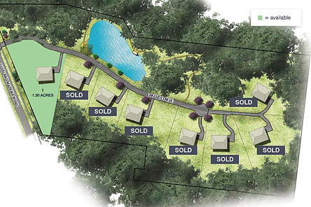 Community map of Lakeside Estates, a luxury custom home community in Indian Hill School District