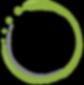 Green and Grey Logo Swirl