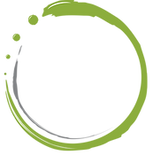 Green and Grey Logo Swirl