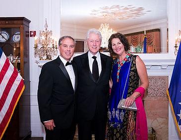 Bill&Leigh Carter w_ President Clinton.j