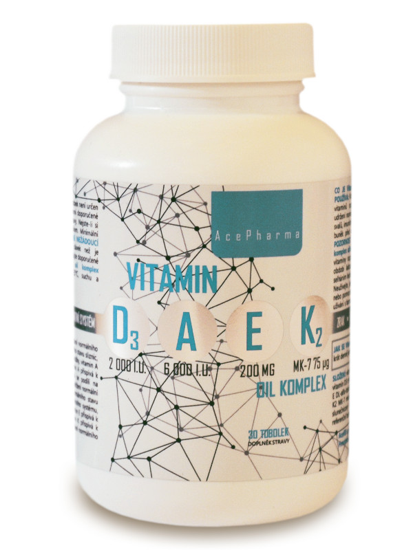 Vitamin D3-A-E-K2 oil komplex 30 tob.