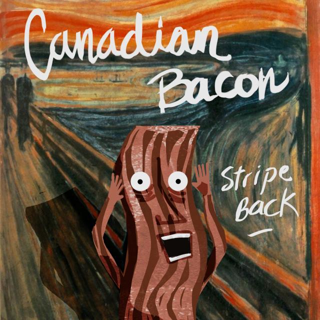 canadian bacon art stripe back