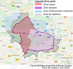 Carte interactive des zones officielles de la PPA