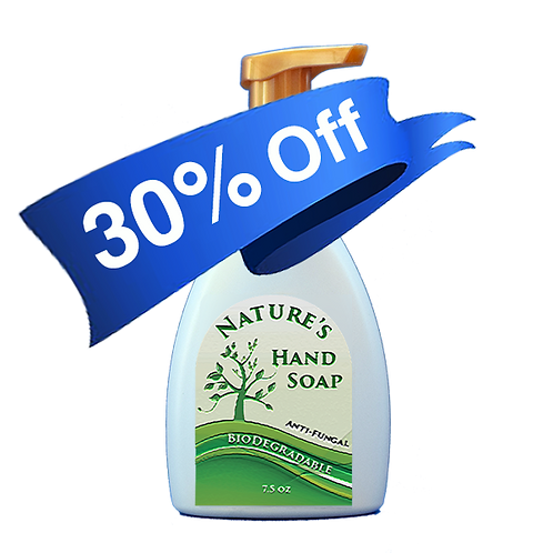Natures Sanitizing Hand Soap 7.5 oz.