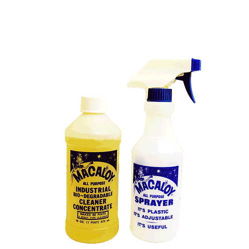 16oz All Purpose Sanitizing Concentrated Cleaner with Refillable Spray Bottle