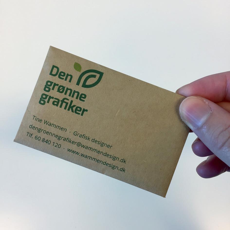 Visitkort med frø Den grønne grafiker