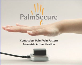 PalmSecure palm vein scanning