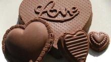 San Valentín impregnado de chocolate.