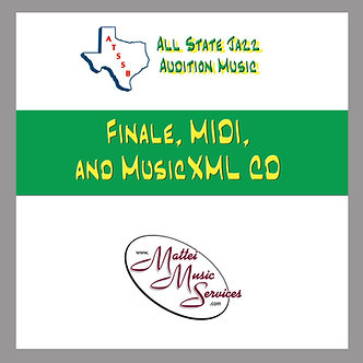 ATSSB All State Jazz Finale/Midi/XML Files, Set A CD