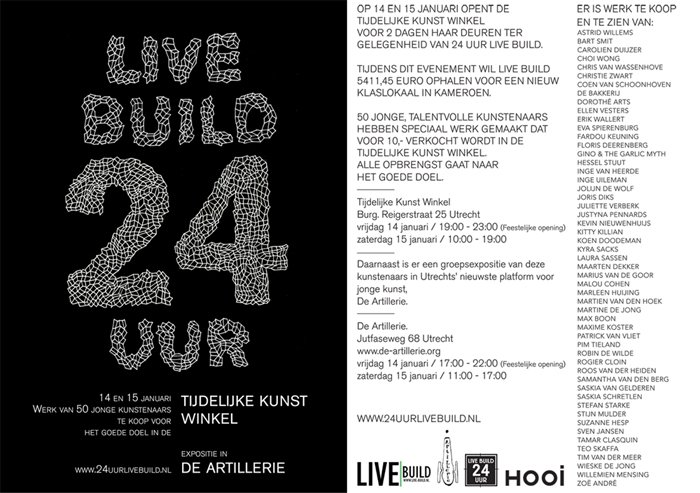 Live Build, Temporary art 24h