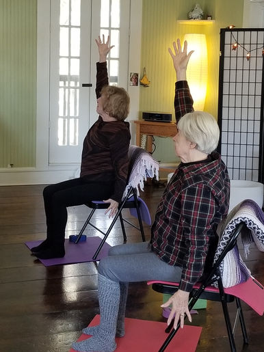 chair yoga at Treehouse BSL